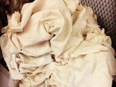 A pile of lushiously soft reindeer buckskin - we made 22 buckskin in total - and because reindeer is so lovely and thin they turned out so soft with so much less work than deer.