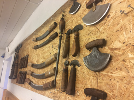 Tanners' tools - all handmade by blacksmiths