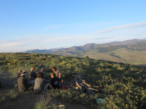 Gathered in the hills to forage for food
