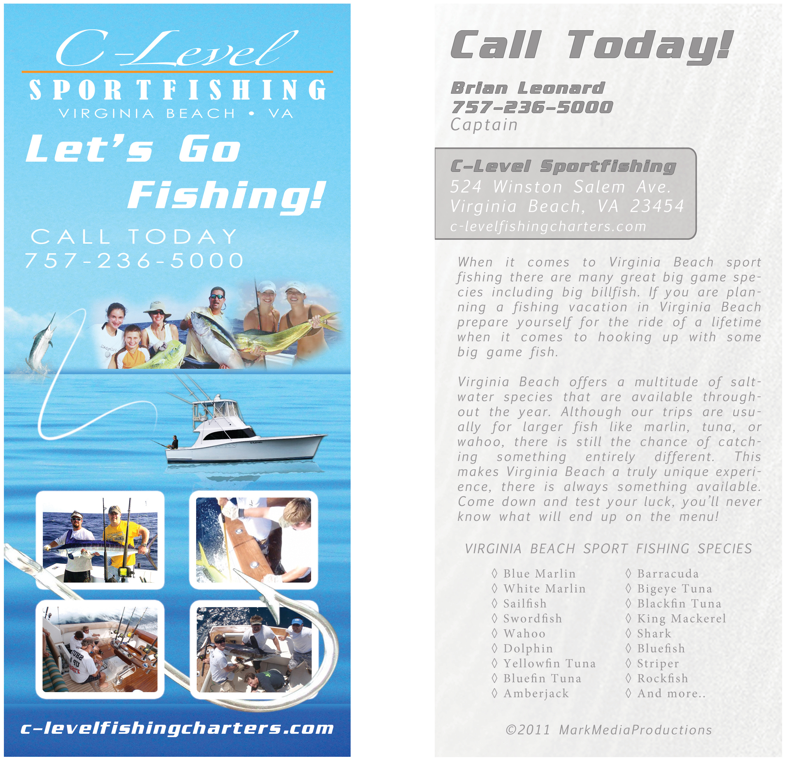 Sport Fishing Rack Card