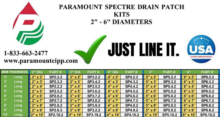 Paramount-Spectre-Drain-Patch-Repair-Kit