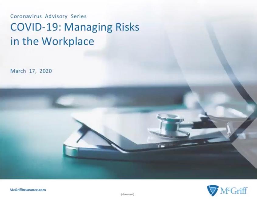 COVID-19 – Managing Risks in t