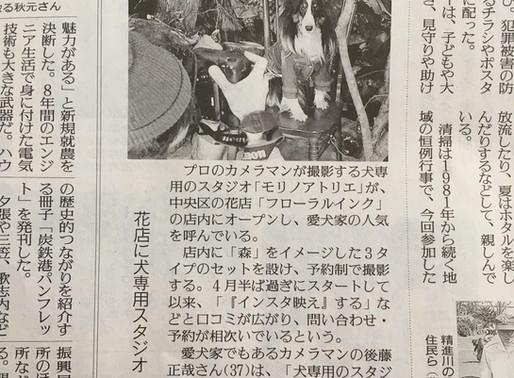 読売新聞に掲載されました!