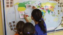מפת עולם אינטראקטיבית ללימוד אנגלית חוויתי