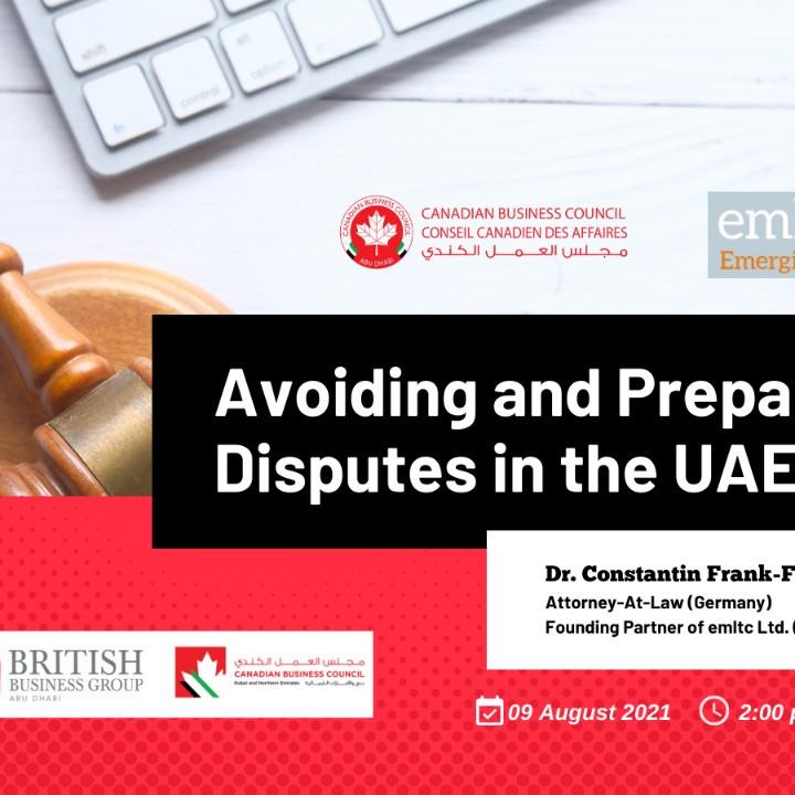 CBC Dubai - Avoiding and Preparing Disputes in the UAE