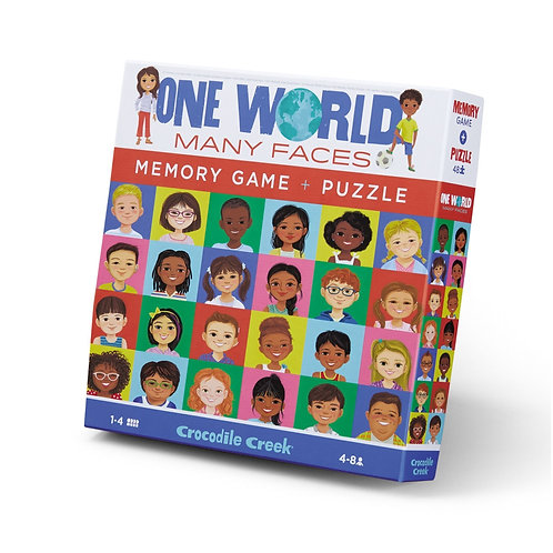 One World Many Faces Memory Game & Puzzle