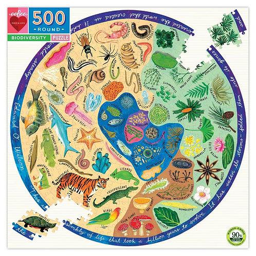 500 Piece Biodiversity Round Puzzle