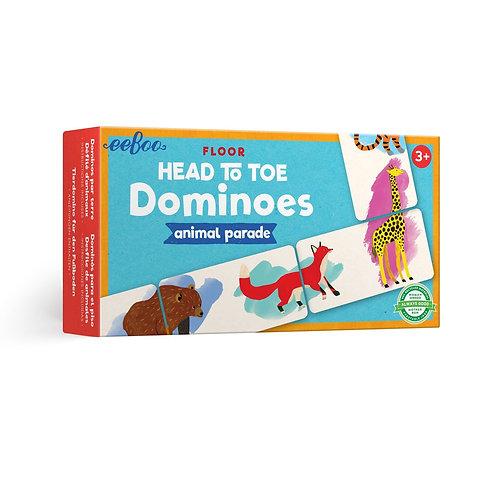 Animal Parade Head to Toe Dominoes