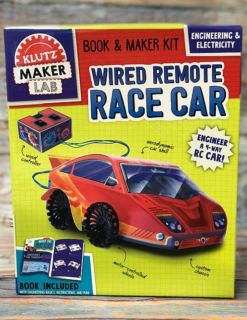 Wired Remote Race Car Book & Kit