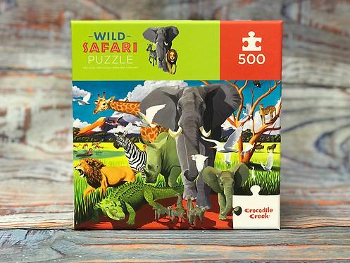 Crocodile Creek 500 pc. Wild Safari Puzzle
