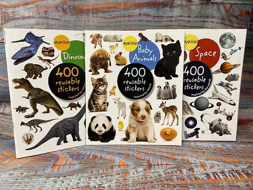 400pc. Reusable Sticker Book