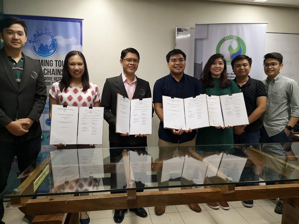 PCEPSDI and Kezar Innovations Pte. Ltd. showcasing their proof of partnership.