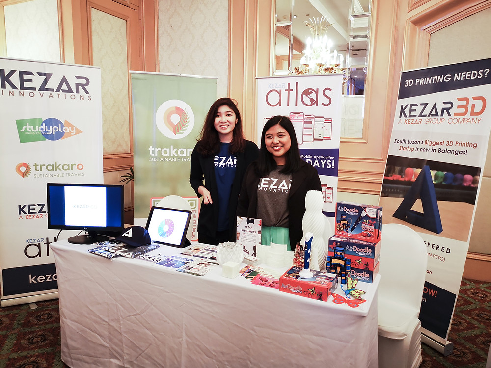 COO , Kat Chua, and Director of Sales, Jo Anne Paril manning the Kezar booth during the pitching sessions.