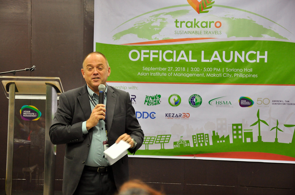 Terry Faris making his opening remarks and talking about Trakaro during the Launch Event.