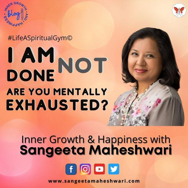 Sangeeta Maheshwari - Analysis Paralysis