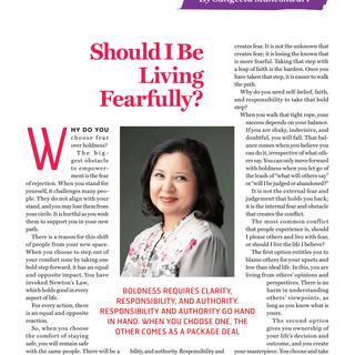 Should I be living fearfully JAN-4 FEB 2