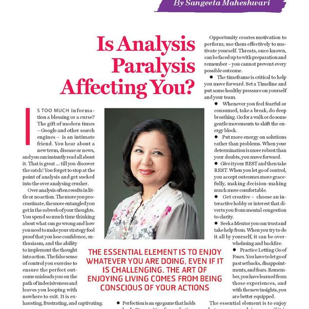 Is Analysis Paralysis Affecting You - Sa