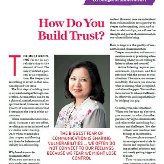 How Do You Build Trust - Sangeeta Mahesh