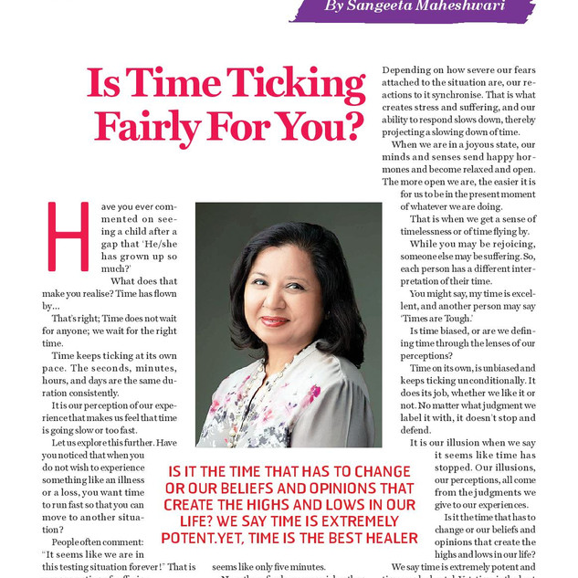 Is Time Ticking Fairly For You - Sangeet