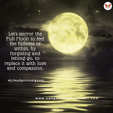 Synchronicity between full moon and mani