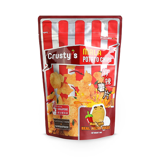 Crusty's Mala Salted Egg Potato Chips