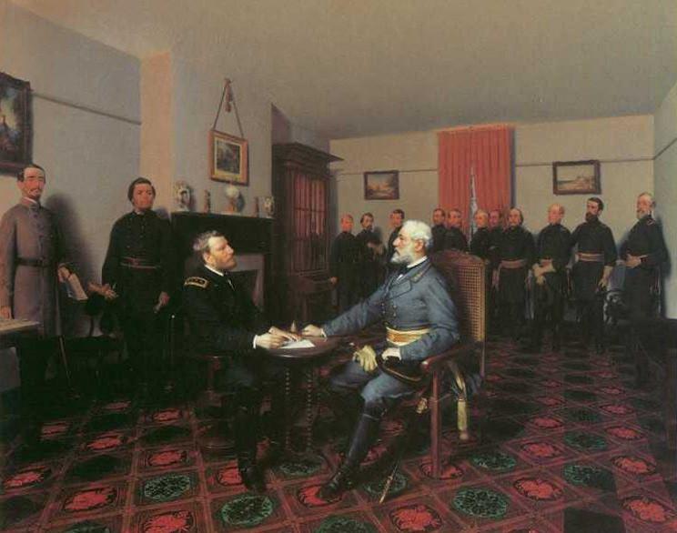 Surrender of General Lee to General Grant, April 9, 1865 (painting)