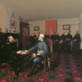 Surrender of General Lee to General Grant, April 9, 1865 (painting)