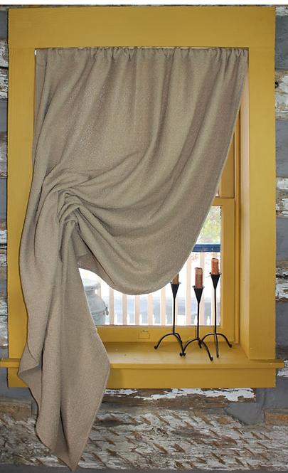 Homespun Plain Weave Festoon Curtain