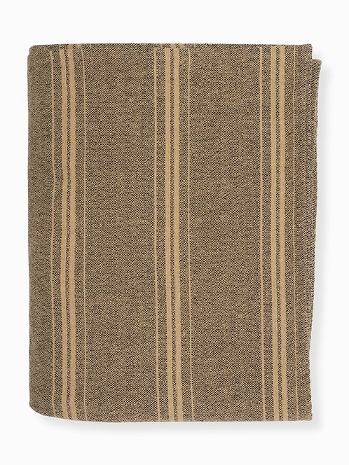 Stripe #21 Blanket - Black/Hemp