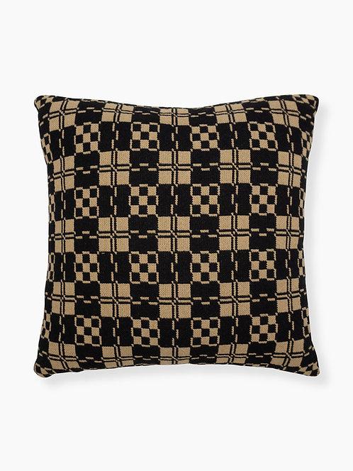 Apple Blossom Pillow - Front, Black