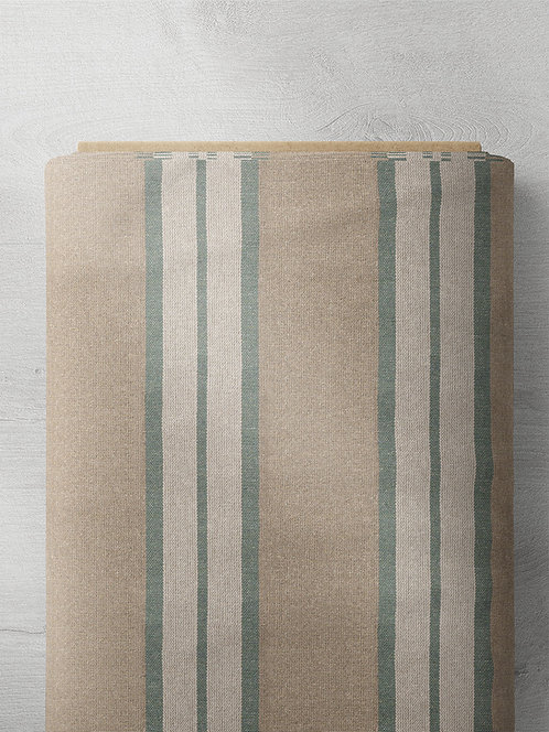 Marietta Stripe - Williamsburg Green/White