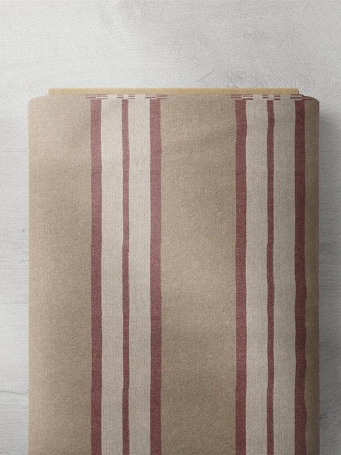 Marietta Stripe - Burgundy/White