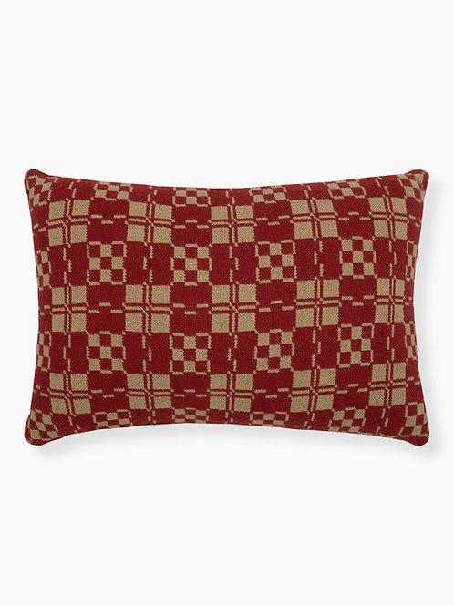 Apple Blossom Pillow - Front, Brick