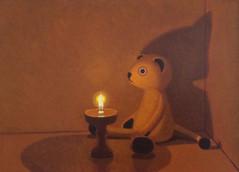 Keigo Nakamura Cat, Candle 2019 Oil on canvas 24.4 x 33.4 cm