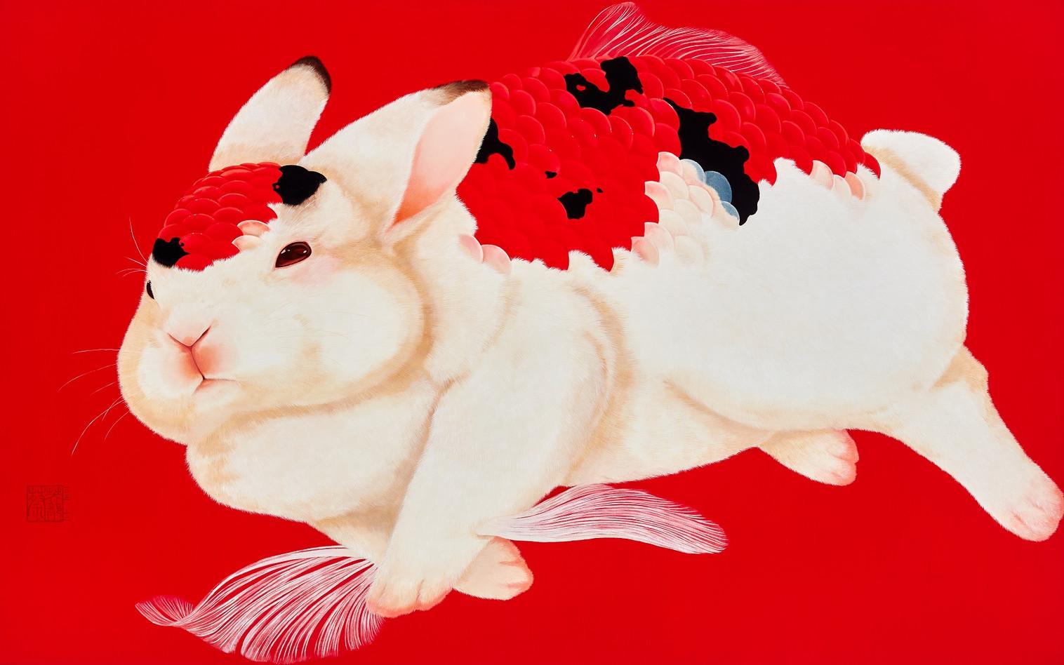 Fu Chun Tsai Spring River, 2016 Acrylic on canvas 110 x 165 cm