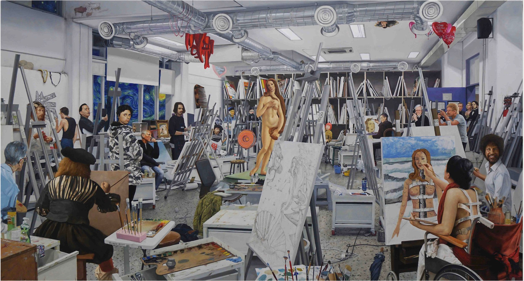 Kwon Neung Painting Class, 2019 Oil on canvas 104 x 194 cm
