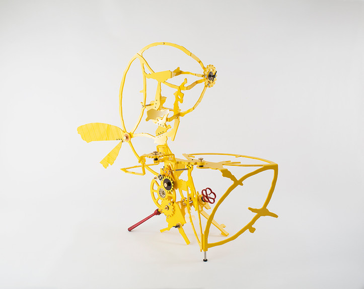 Kenichiro Taniguchi No.9, Beiping E Rd., Zhongzheng District, Taipei, #5, enlargement 1:3 2019 Compressed PVC, Brass, Steel, Hinges, Wood, Leather, Rubber, Acrylic plate, Rotatable devices, Wheel, Valve handle, Iron lever handle, Gear W126 x H107 x D50 cm