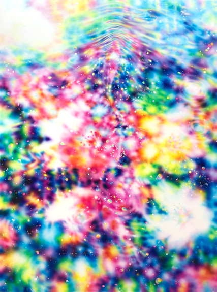 Tomoya Tsukamoto Encounter -Sakura on the water 2 , 2019 Acrylic on Canvas , 103.3 x 97 cm