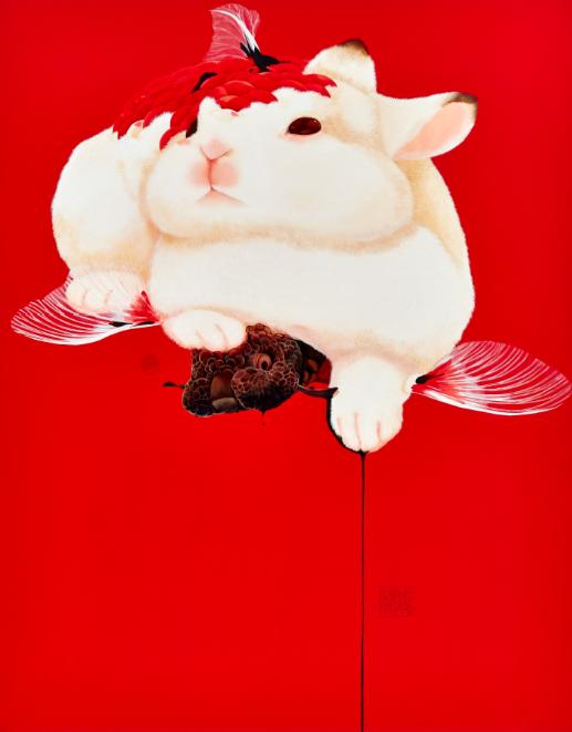 Fu Chun Tsai Sublimation, 2017 Acrylic on canvas 110 x 140 cm