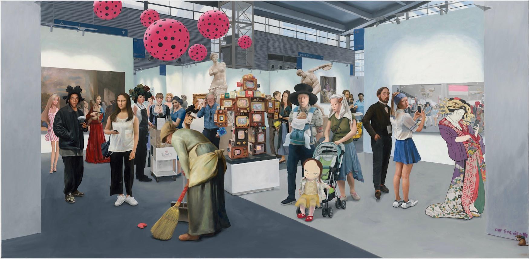 Kwon Neung Art Fair (2), 2019 Oil on canvas 93 x 190 cm