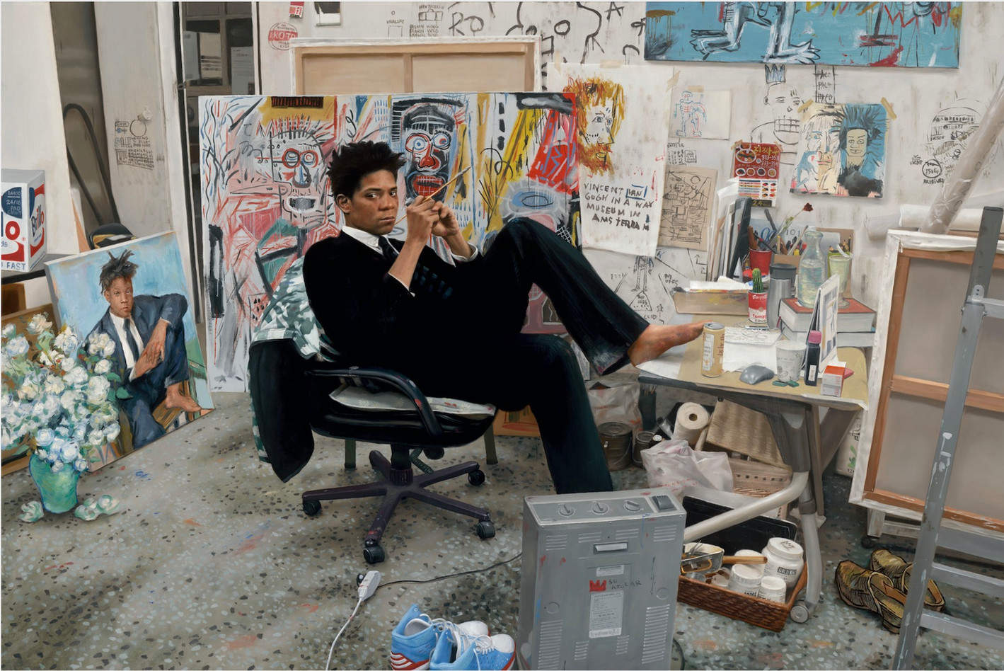 Kwon Neung Basquiat, 2019 Oil on canvas 72 x 108 cm