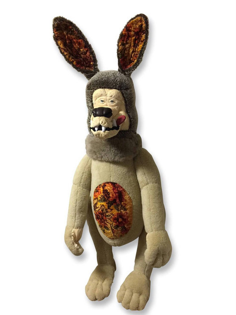Astro Nuts Wolf 2016 Textile, Cotton, Mixed Media H64 x W48 x D46cm