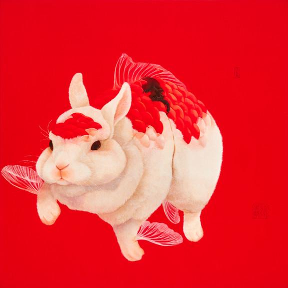 Fu Chun Tsai 掠食者(Predator), 2020 Acrylic on canvas 120 x 120 cm