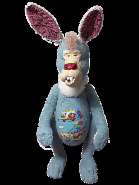 Astro Nuts Rabbit 2016 Textile, Cotton, Mixed Media H120 x W67 x D45cm