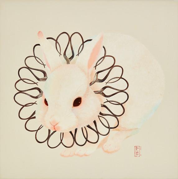 Fu Chun Tsai 剪刀兔No.4 (Scissorsrabbit No.4), 2020 Acrylic on canvas 80 x 80 cm