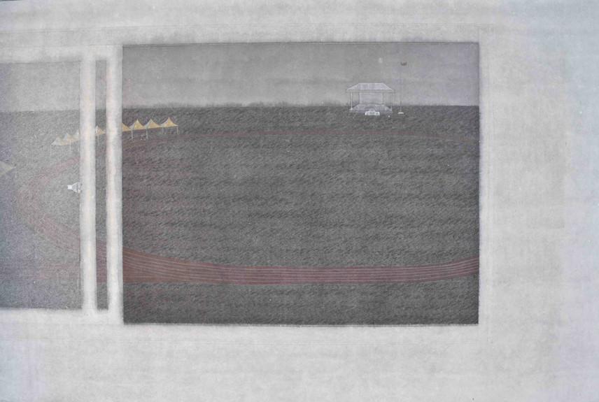 Min Yin Tsai 視線之外 III, 2017,  Ink on Paper, 60 x 90 cm