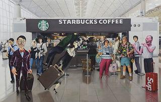 Artistic Cafe 137x85cm Oil on Canvas 202