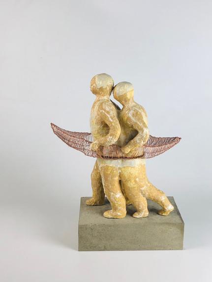 Dan Xie 小船, 2020,  Clay, Glaze,Copper, H35 x W30 x D16 cm