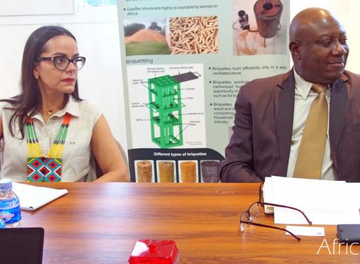 Ambassador of Venezuela in Benin, accompanied by FAO and ADERIZ representatives, visit AfricaRice