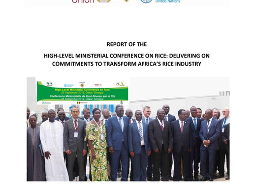 Report of the High-Level Ministerial Conference on rice